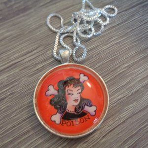 Poison necklace glass necklace glass pendant femin